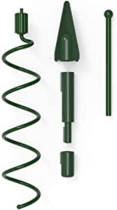 [Christmas Tree Topper Holder] - Twist-on Holiday Universal Tree Topper Stabilizer Fits All Base Types- Metal Green Support Rod with Adjustable attachments to stabilize Seasonal Treetop Ornaments