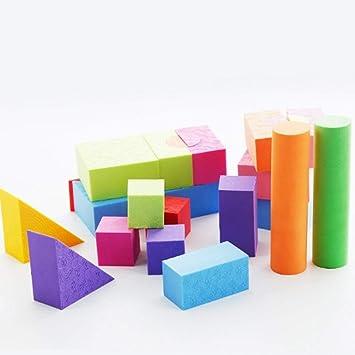 Xiton DIY-Bausteine, Soft Schaum Building Blocks Spielzeug ...