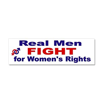 Cafepress real men fight for womens rights car magnet 10 x 3 car magnet