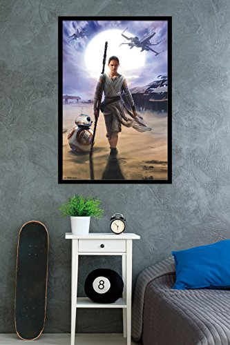Trends International Star Wars the Force Awakens Rey, 22.375 x 34