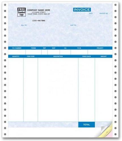 Continuous Product Invoice for QuickBooks Parchment