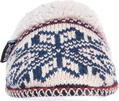 Muk Luks Kvinnor Fairisle Knit Scuff - Tan - Medium (7-8)