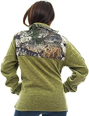 TrailCrest Mens C-Max Full Zip Polar Fleece Jacket Mossy Oak Camo Patterns