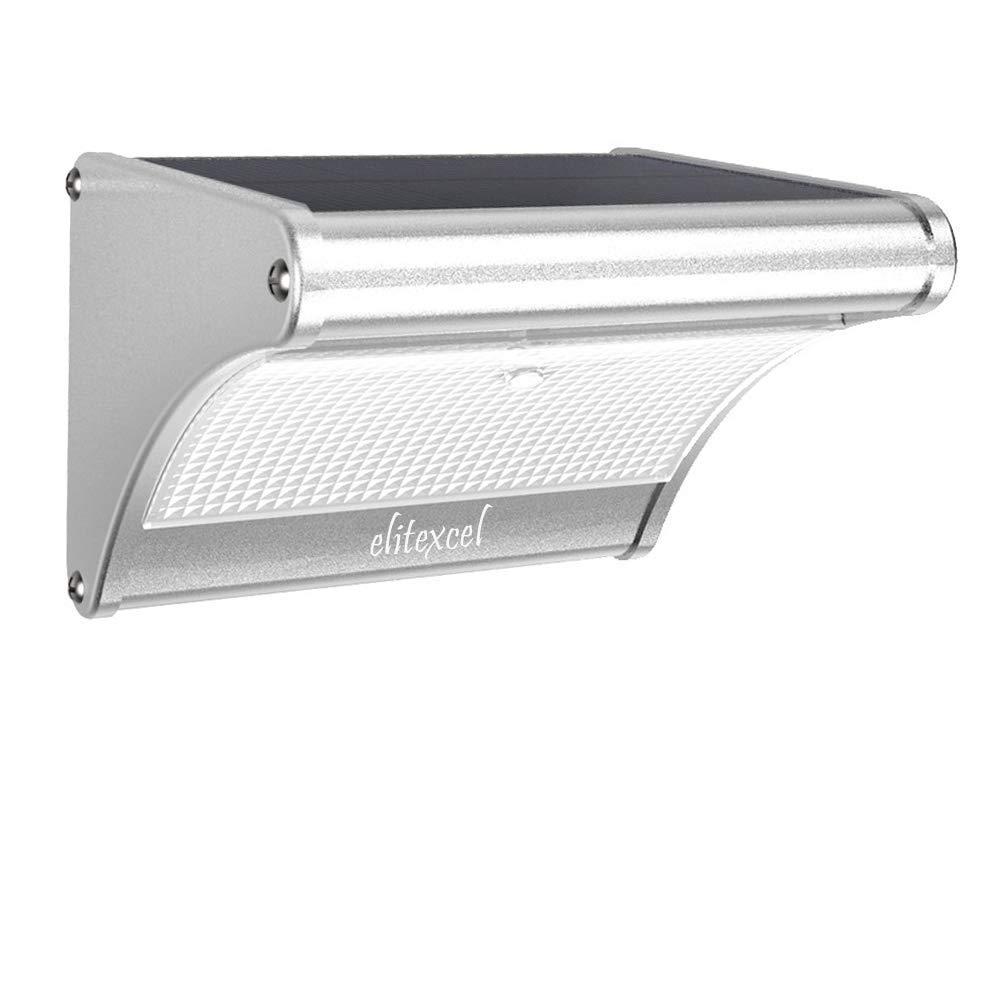 Elitexcel Solar Powered Wall Lights Nightlight, Super Brightest 24 LED with Radar Motion Sensor, IP65 Waterproof Outdoor Security Lights for Garden, Yard, Backyard, Front Door, Patio, Deck, Pathway