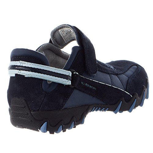 Allrounder by Mephisto Women's Niro Walking Shoes,Dark Blue Suede/Mesh,8 M US