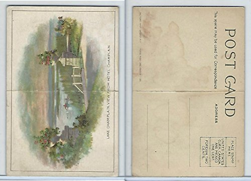 Champlain Series (T94 Murad Tobacco, Post Card Series, 1910, Lake Champlain View From Hotel)