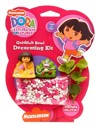 Dora The Explorer Dora Betta Gold Fish Bowel Decorating - White Gold Dora
