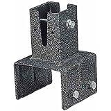 アイリスオーヤマ ラティス パーツ ポスト固定金具 ブロック用 LPK-100B 幅約12.2×奥行約11.6×高さ約18cm