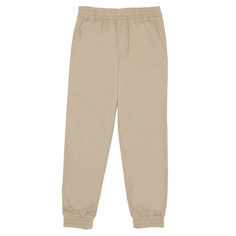 French Toast Boys' Big Pull-on Jogger, Khaki, 12