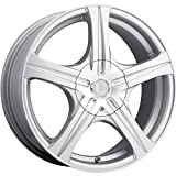 rims for 08 pontiac g5 - Ultra Slalom 15 Silver Wheel / Rim 4x100 & 4x4.5 with a 35mm Offset and a 73 Hub Bore. Partnumber 403-5603+35S
