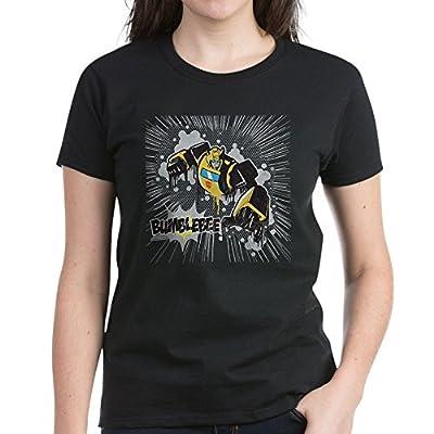 CafePress Transformers Comic Bumblebee Women's Dark T-Shirt - Womens Cotton T-Shirt