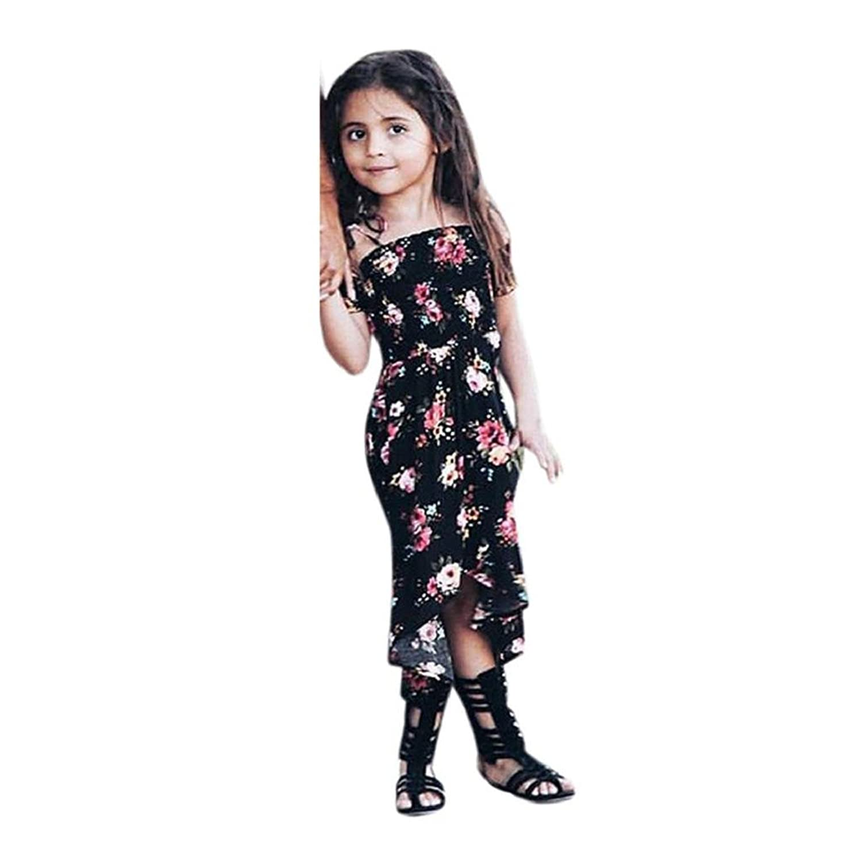 2 7 Years Old GirlsYamally 9R Baby Girls Kids Floral Off Shoulder Strap Princess