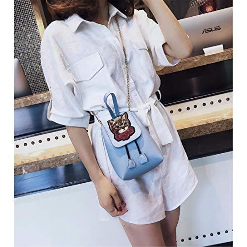 borsa tracolla grande donna blu spalla borsa grande borsa capacità singola lunga Portafoglio tracolla con borsa singola a nero borsetta a E4Znq