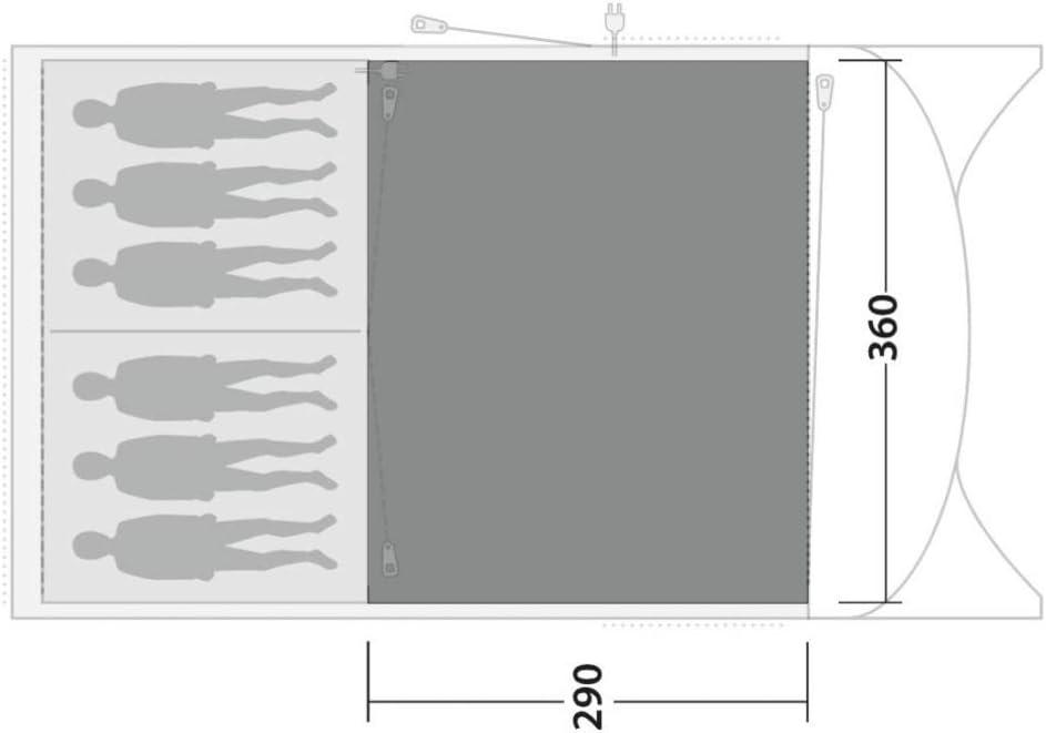 Outwell Greenwood 6 Flachgewebter Teppich 2021