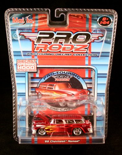 '55 CHEVROLET NOMAD * RED * Maisto Pro Rodz Pro-Touring Die-Cast Collection 1:64 Vehicle -