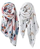 Organic Muslin Swaddle Blankets, 100% Organic Cotton - 2 Pack - Ten Little Toes - Unisex, Baby Boy, Baby Girl
