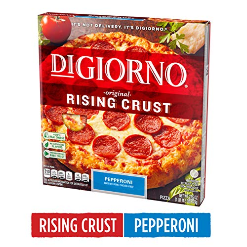 DIGIORNO Original Rising Crust Pepperoni Frozen Pizza, 27.5 oz. | Made with Mozzarella Cheese