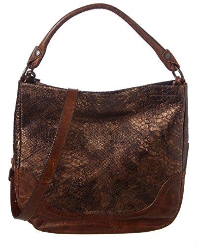 Hobo Bronze - Frye Women's Melissa Hobo Bronze Foiled Leather One Size