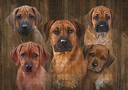 - Rustic 5 Rhodesian Ridgebacks Dog Puzzle with Photo Tin PUZL52182 (1000 pc. 20