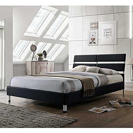Nueva Victoria contemporáneo tela 4 ft6 doble marco de la cama en 4 ...