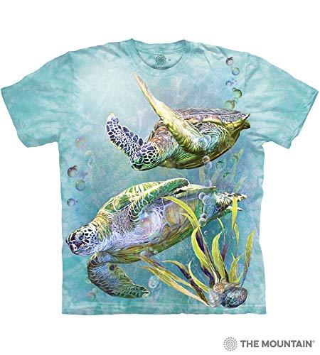 The Mountain Sea Trtl Swim Adult T-Shirt, Green, 3XL (Tee Adult Swim Shirts)