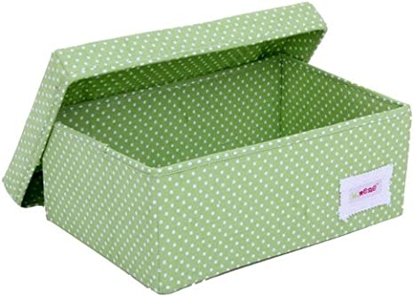 Minene - Caja de almacenaje pequeña con tapa, diseño de lunares ...