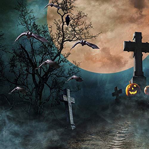 HAKACC Halloween Fledermäuse, 12 Stück Realistische Gespenstische Fledermäuse Hängende Spuk-Gummi für Halloween Party Dekoration Kostüme