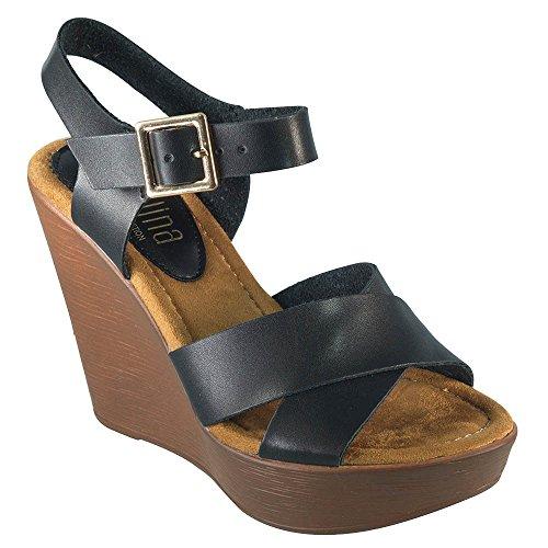 Angelina-Womes-Vegan-Leather-Crisscross-Wedge-Sandal