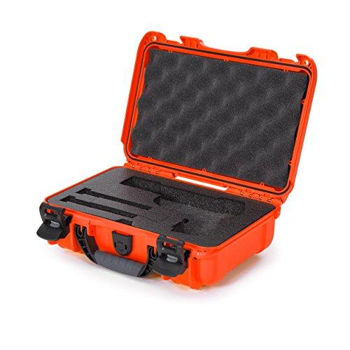 Nanuk 909 Waterproof Professional Classic Pistol/Gun Case, Military Approved with Custom Insert - Orange - Made in Canada