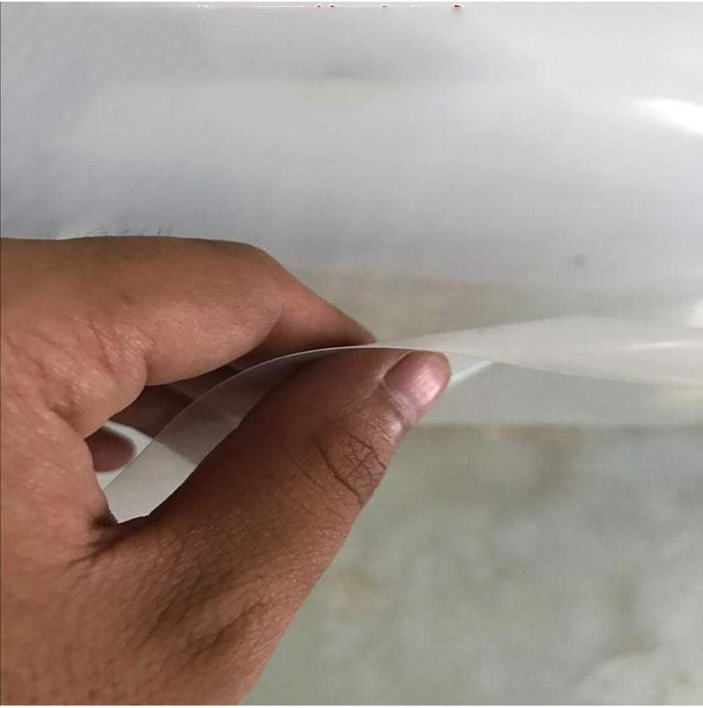 YUDEYU Transparent Regentuch T/ür/öffnung Balkon Staubdicht Regenfest Winddicht Plane Kunststoffvorhang 0,12 Mm Color : Klar, Size : 100 x 100 cm