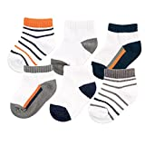 Best Yoga Sprout Baby Socks - Yoga Sprout Baby 6-Pack No Show Socks, Navy/Orange Review