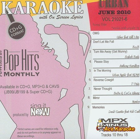 Chart Hits Monthly Urban - June 2010 Karaoke CDG by Various