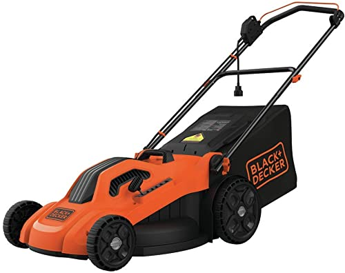 BLACK DECKER Lawn Mower, Corded, 13 Amp, 20-Inch BEMW213 ,Orange