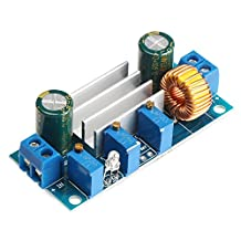 SavvyTec DC-DC4.5-30V to 0.8-30V Constant Voltage and Current Buck Converter 12V to 5V 5A Step-down Voltage Regulator Module Board LED Driver Power Transformer with Turn Light and PWM Control for Solar Panels Auto Car