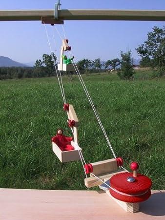Kraul Mini Seilbahn Mit Zwei Wagen Amazonde Spielzeug