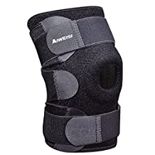 AIWEISI Adjustable Knee Brace Support Neoprene Sleeve Knee Pads with Open Patella for Meniscus Tear,Arthritis,ACL,MCL,Outdoor Sports for Men and Women
