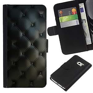 A-type (Diamond edredón con clase Modelo de cuero) Colorida Impresión Funda Cuero Monedero Caja Bolsa Cubierta Caja Piel Card Slots Para Samsung Galaxy S6 EDGE (NOT S6)