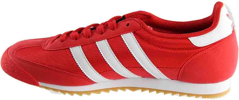 Adidas Originals Mens Dragon OG Suede Sneakers 10 Red White