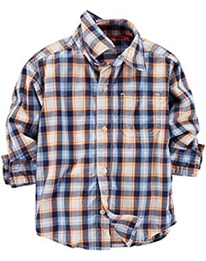 Carter's Baby Boys' Plaid Button Down Shirt (Baby) - Blue/Red