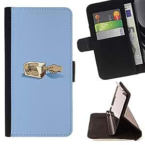 BullDog Case - FOR/HTC One M9 / - / Pencil Grinder /- Monedero de cuero de la PU Llevar cubierta de la caja con el ID Credit Card Slots Flip funda de cuer