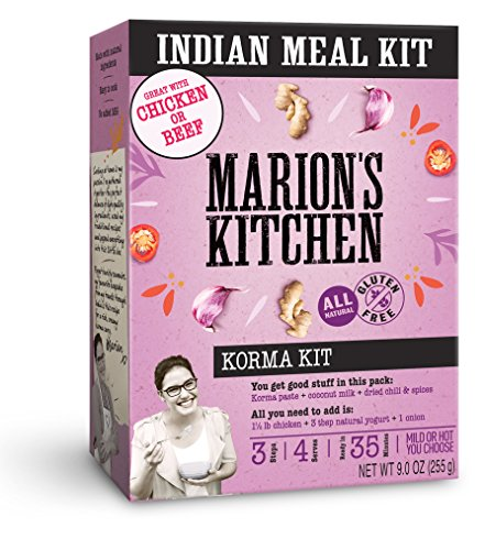 UPC 856660005042, Marion's Kitchen Cooking Kit, 5 Pack, Quick Easy All Natural Indian Meal Kit (Korma Curry)