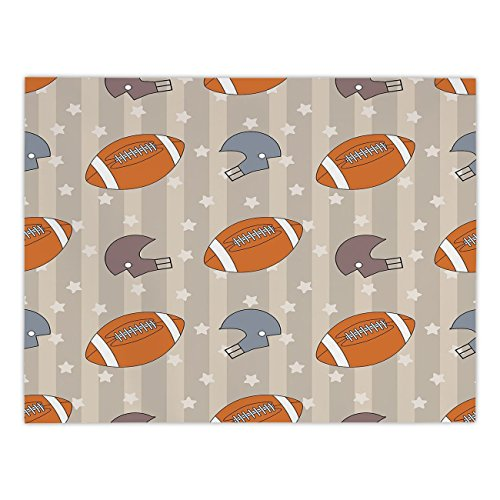 Polyester Rectangular Tablecloth,Football,Faded Stars and Stripes with Classical Sports Symbols USA Retro Tile,Orange Mauve Slate Blue,Dining Room Kitchen Picnic Table Cloth Cover,for Outdoor Indoor