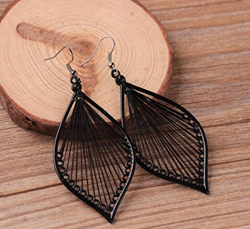Toponly Temperament Exaggerated Earrings Fashion Sleek Trend Silver Matte Bohemian Geometric Pendant Stud