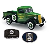 1:25 Scale 1937 John Deere Ford Diecast Truck With 2 Commemorative Belt Buckles by The Hamilton Collection