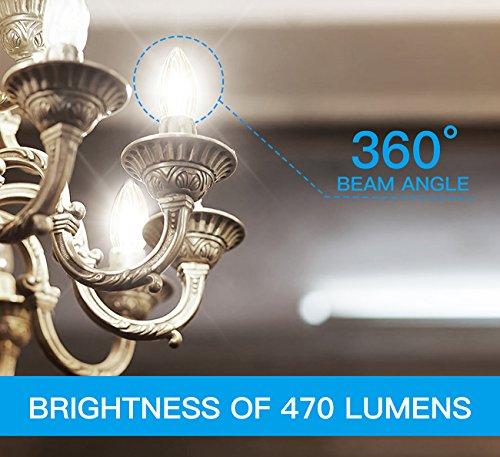 Candelabra LED Filament Bulbs 40W Equivalent, WINSEE E12 Base B11 ...