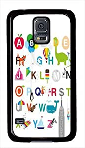 26 Letters Of The Alphabet Custom Samsung Galaxy S5 Case Cover - Polycarbonate - Black