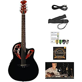 ovation ae44 5 kit 1 acoustic electric guitar musical instruments. Black Bedroom Furniture Sets. Home Design Ideas