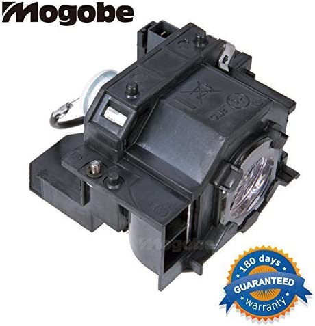 83 83V+; EX90 H281B H371A; EB-410W 410WE; EMP-280 400 400W 400WE 410W 822 822H Mogobe for ELPLP42 Compatible Projector Lamp with Housing for EMP-83H PowerLite 822p 83c 400W 410W 822
