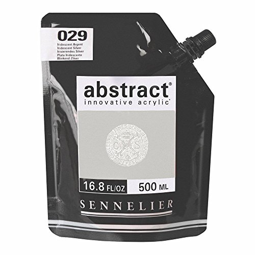 (Sennelier Abstract Acrylic 500ml Pouch, Iridescent Silver, (10-121521-029) )