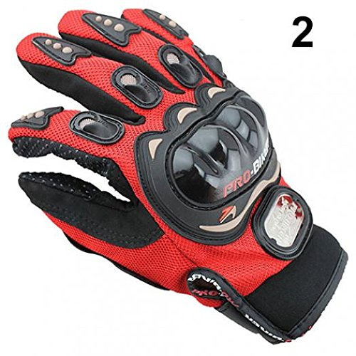 geshiintel Motocross Racing Pro-Biker Motorcycle Motorbike Cycling Full Finger Gloves M/L/XL - Red XL